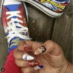 Wonder Woman Nail Ideas - Portrait