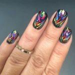 Wonder woman nails - Neon metallic multicolored
