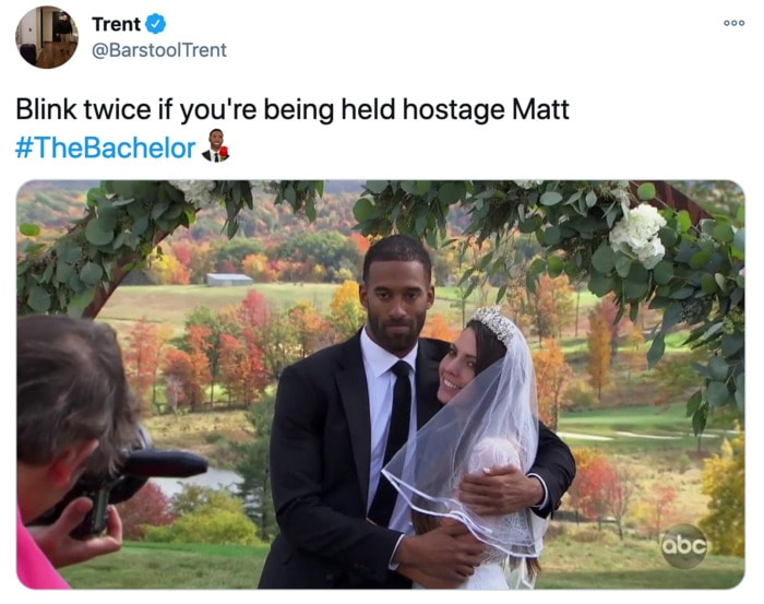 The Bachelor Tweets - Matt and Victoria Wedding