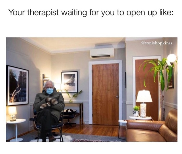 Bernie Sitting Memes - Therapist