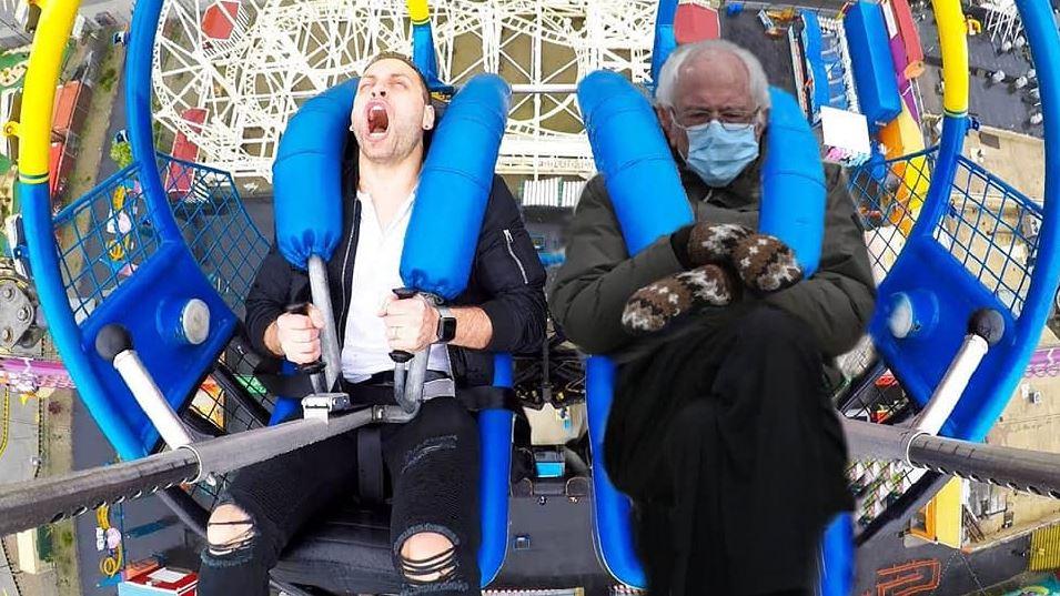 Bernie Sitting Memes - Rollercoaster
