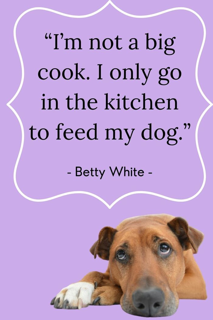 Betty White Quotes - Cooking for Dog