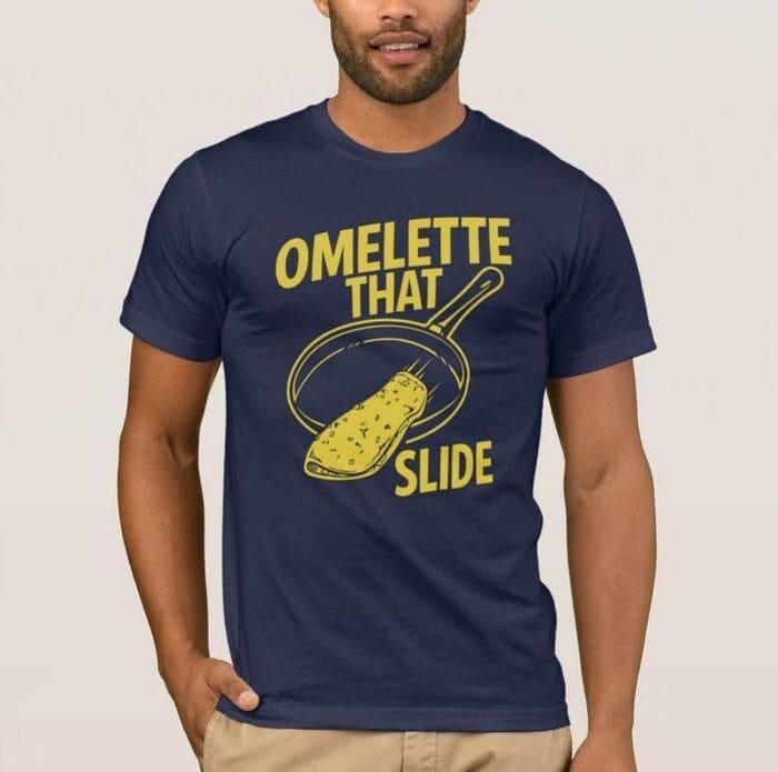 Breakfast puns - Omelette that slide