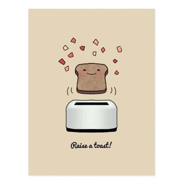 Breakfast puns - Raise a toast