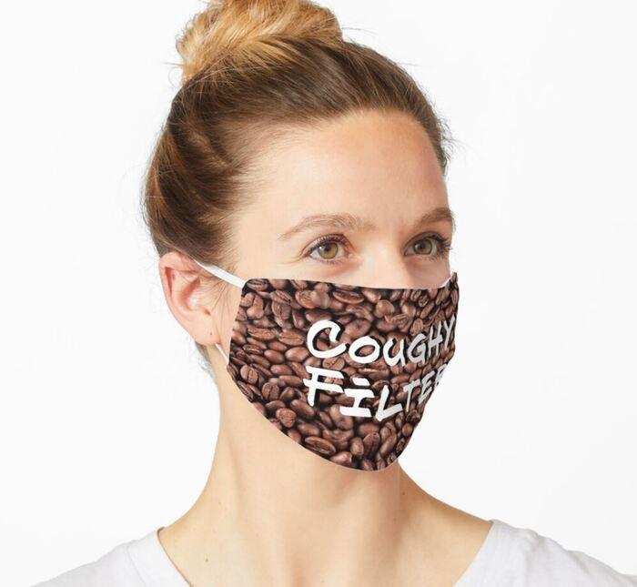 Breakfast puns - Coffee filter mask