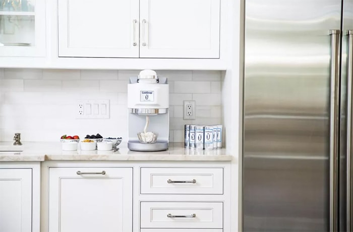 ColdSnap Ice Cream Maker - on counter