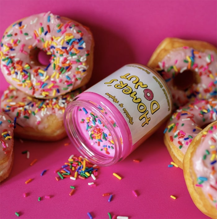 Donut Gift Ideas - Home Simpson Pink Donut Candle