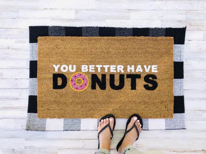 Donut Gift Ideas - Doughnut Doormat