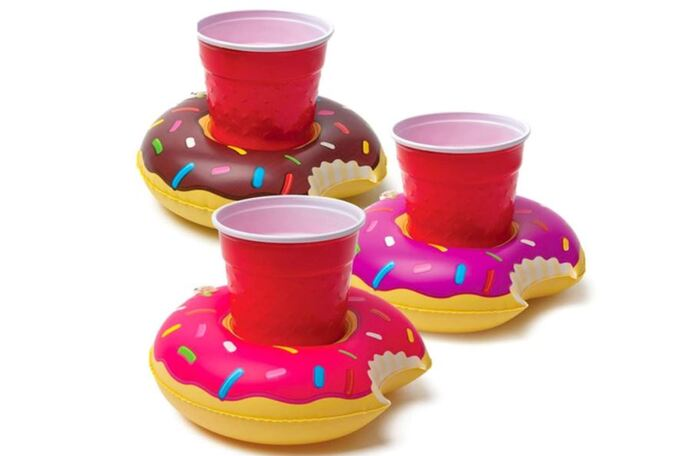 Donut Gift Ideas - Inflatable Pool Coasters