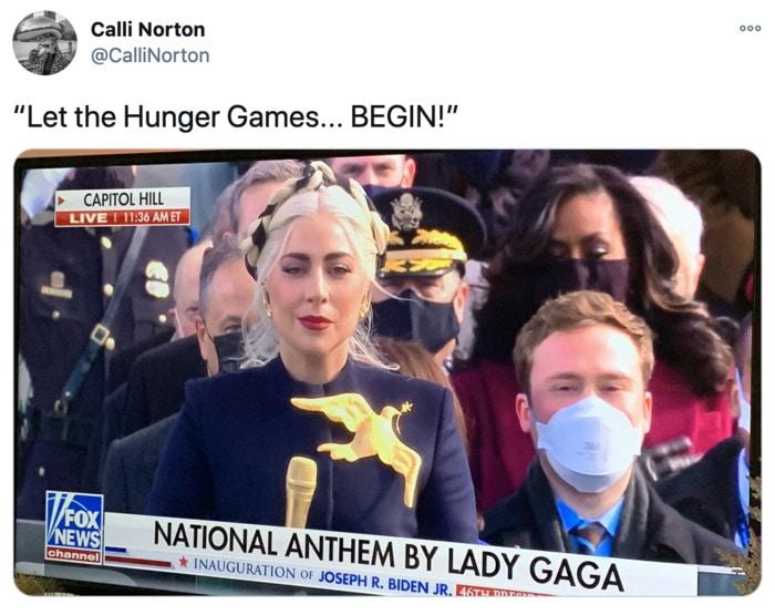 Inauguration Day Tweets Memes - Lady Gaga Hunger Games