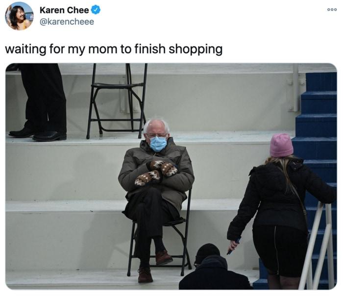 Inauguration Day Tweets Memes - Bernie mom finish shopping