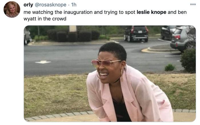 Inauguration Day Tweets Memes - Leslie Knope