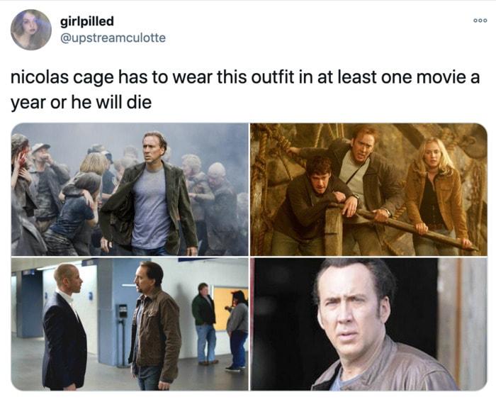 Nicolas Cage Outfits - Movies