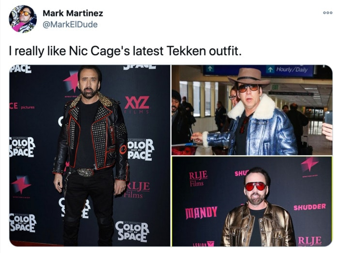 Nicolas Cage Outfits - Jackets
