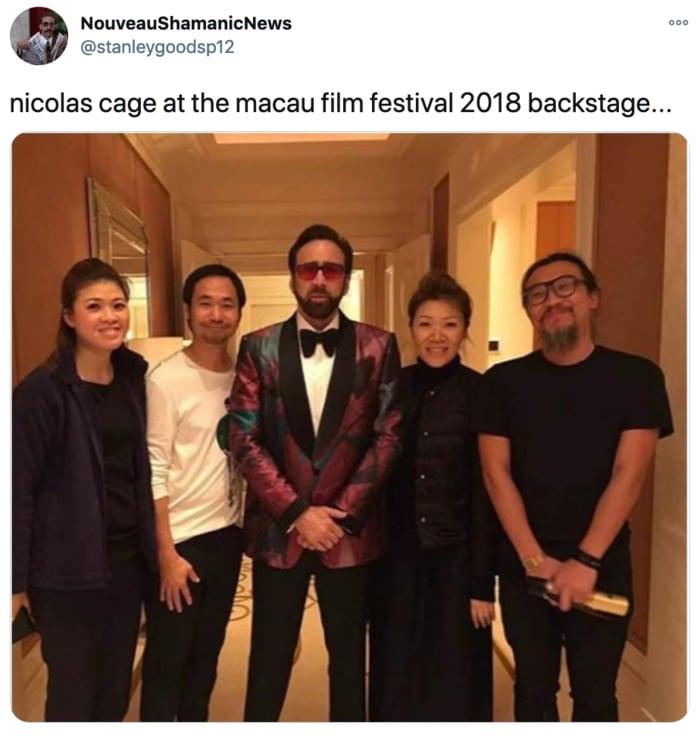 Nicolas Cage Outfits - Macau Film Festival