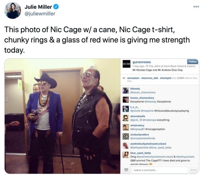 Nicolas Cage Outfits - Blue Blazer