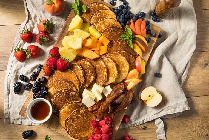 Pancake Charcuterie Board - platter