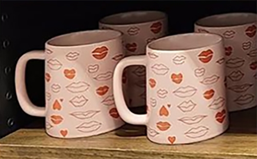 Starbucks Valentine Cups 2021 - Pink Mug with Lips