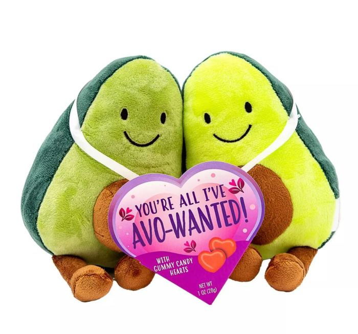 Target Valentines Day - Valentine's Avocado Plush with Gummy Heart Box