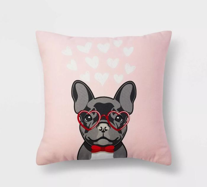 Target Valentines Day - Valentine's Frenchie Throw Pillow