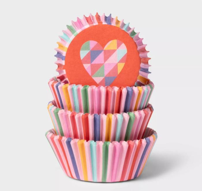 Target Valentines Day - Rainbow Hearts Baking Cups