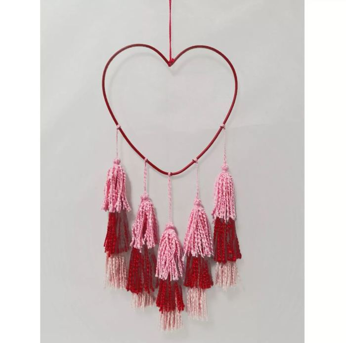 Target Valentines Day - Heart Wall Decor with Tassles