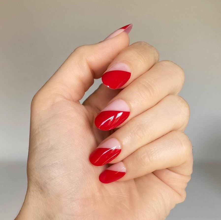 Valentines Nails - 2 tone link