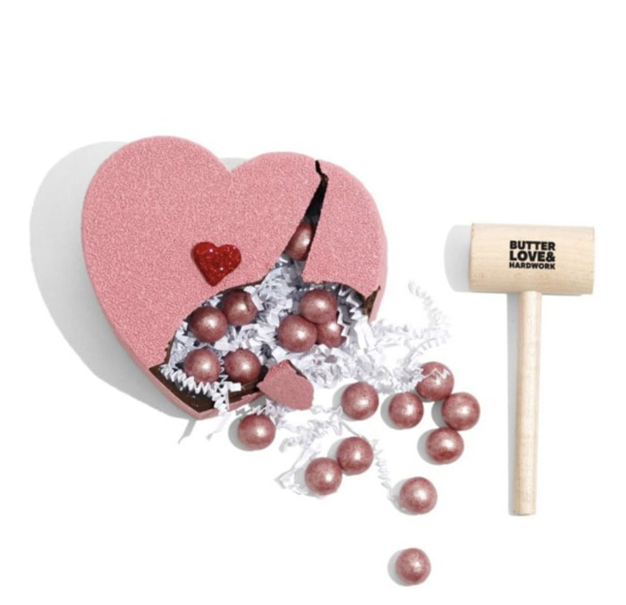 Breakable Chocolate Heart - sparkly pink Williams Sonoma