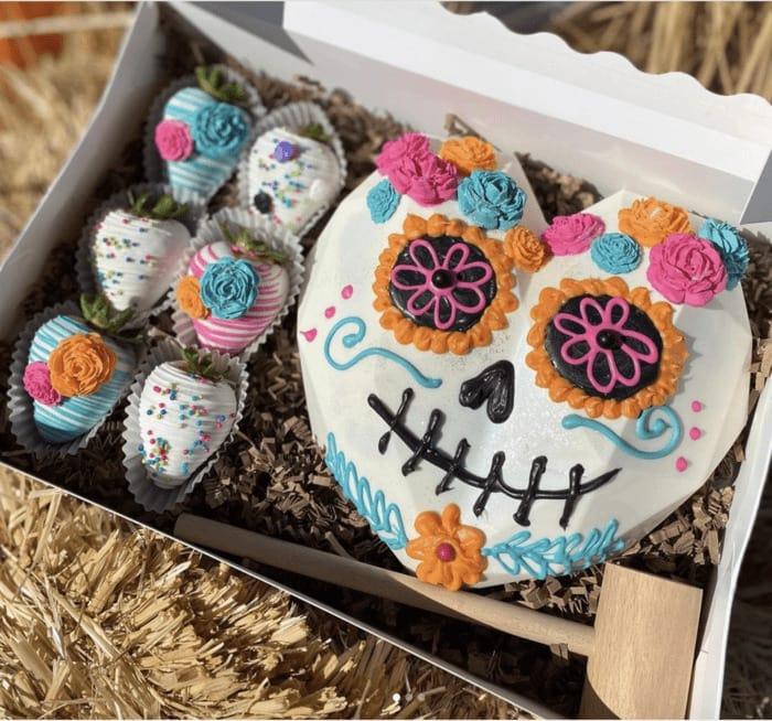 Breakable Chocolate Hearts - Sugar Skull