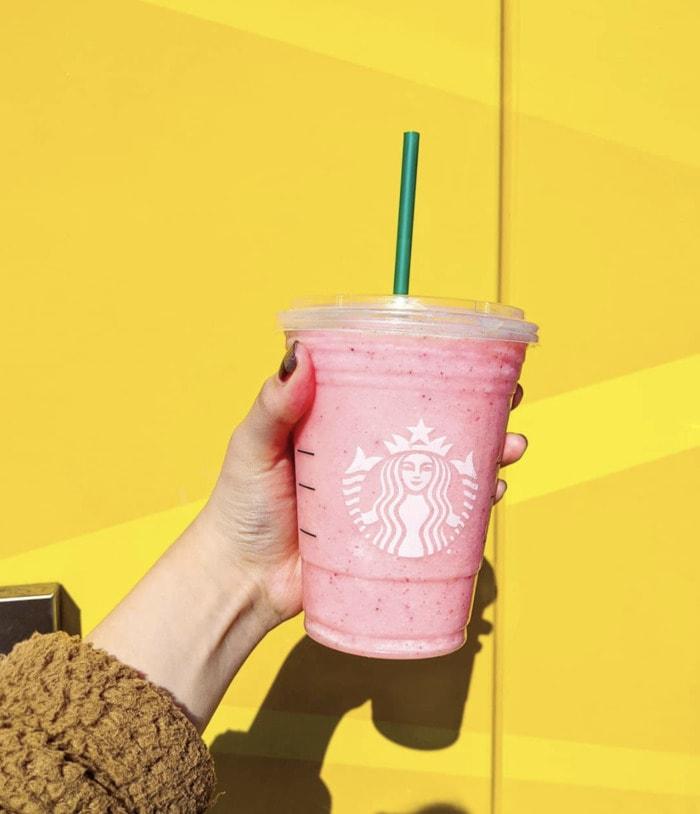 starbucks valentines day drinks - blended pink drink