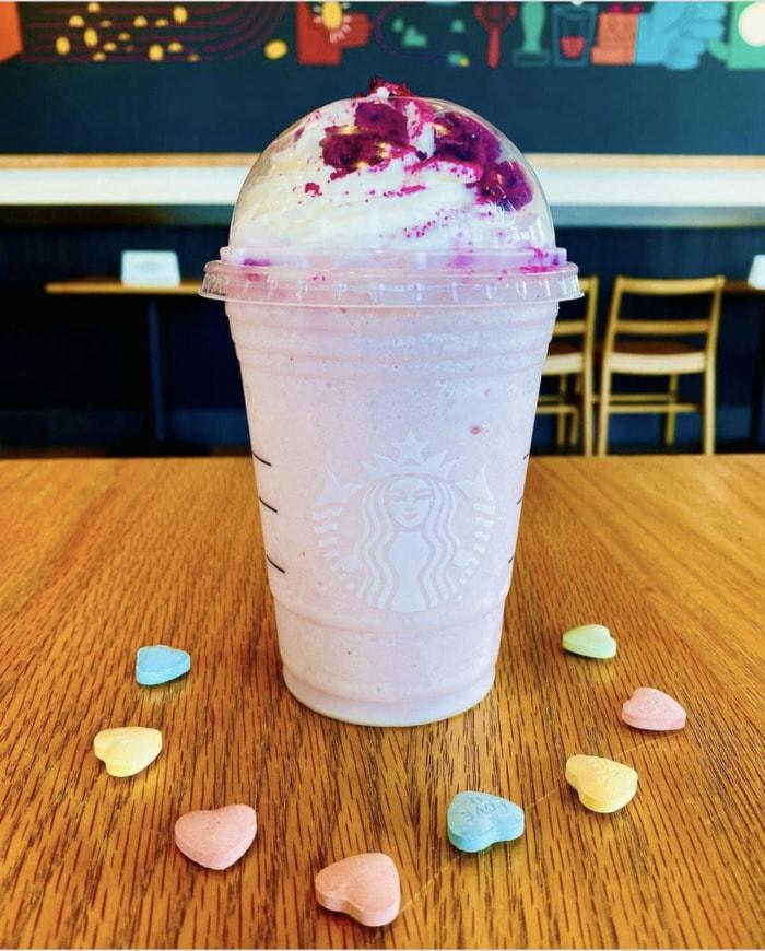 Starbucks Valentine's Day Drinks - L.O.V.E. Frappuccino