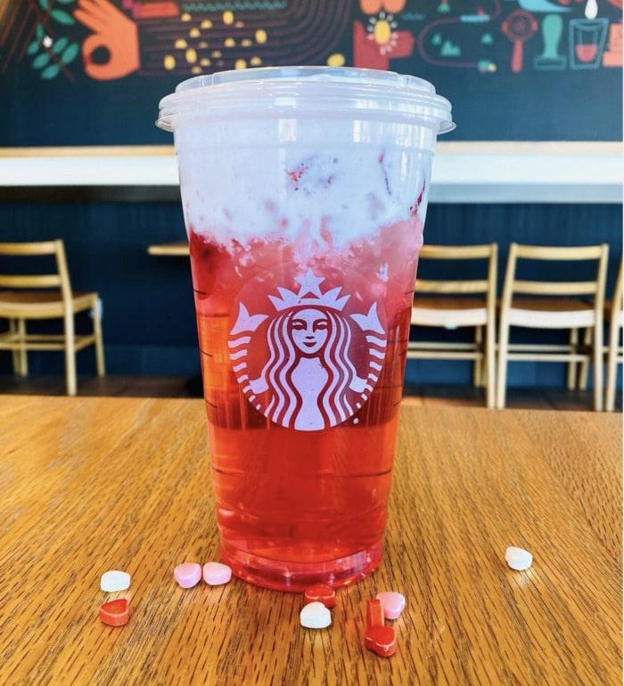 starbucks valentines day drinks - lovestruck refresher