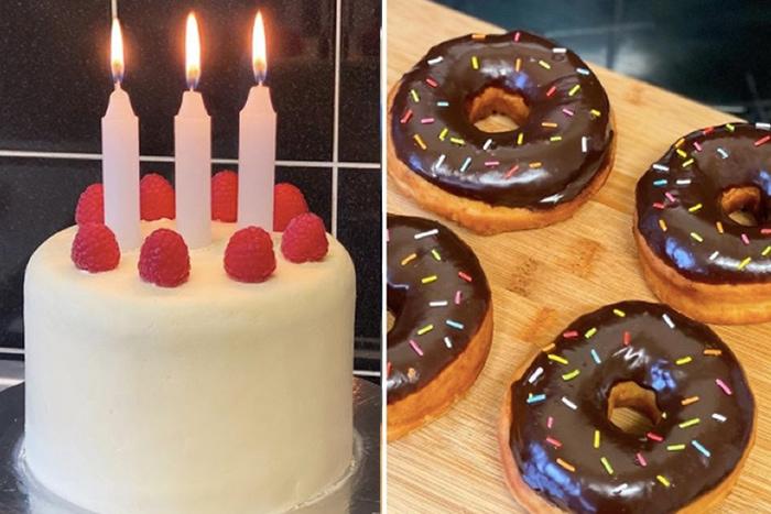 Tik Tok Chef Food Emoji - Birthday Cake and Donuts
