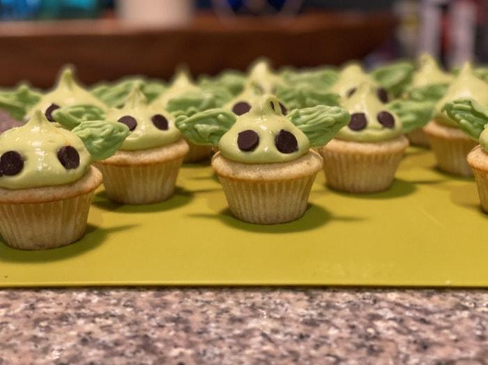 Baby Yoda Cupcakes - key lime yoda cupcakes
