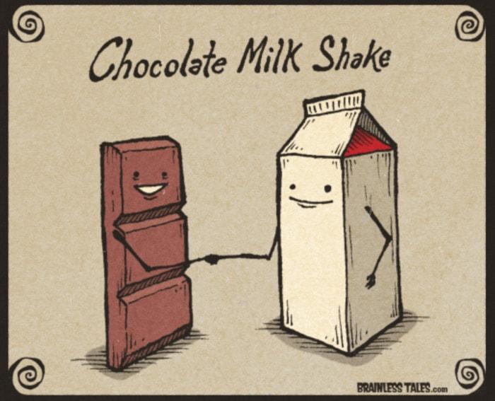 Chocolate Puns - milkshake