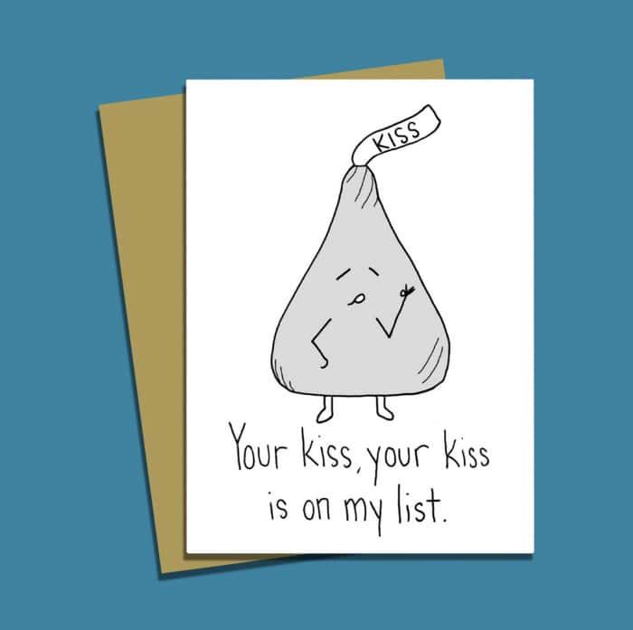 Chocolate Puns - Hershey's Kiss
