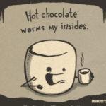 Hot Chocolate Puns - marshmallow
