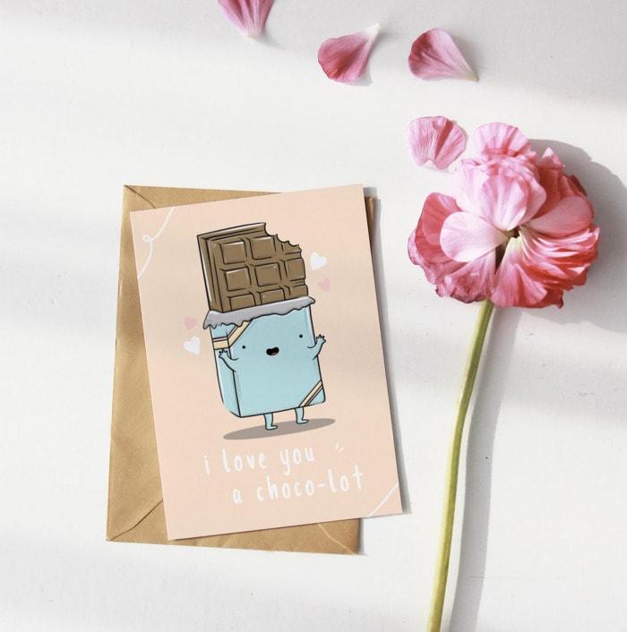 Chocolate Puns - love you choco lot