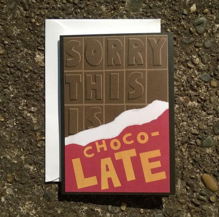 Chocolate Puns - belated birthday