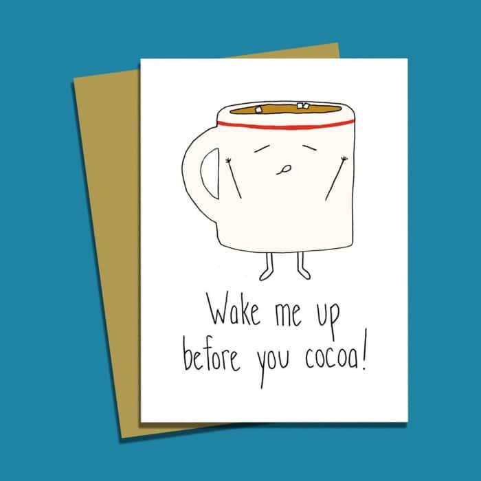 Chocolate Puns - Hot Chocolate Cocoa Mug