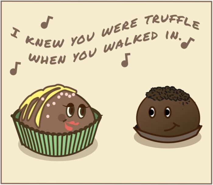 Chocolate Puns - Truffles