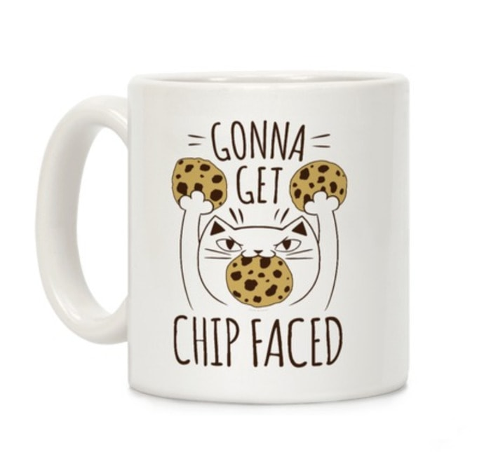 Chocolate Puns - Cat Holding Chocolate Chip Cookies