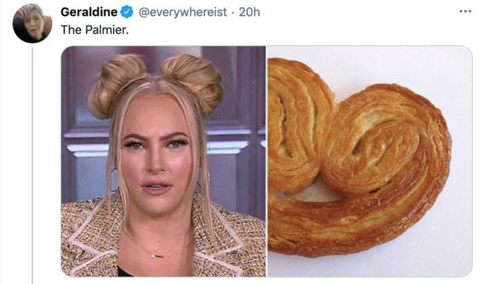 Meghan McCain Hairstyle as Dessert - Palmier