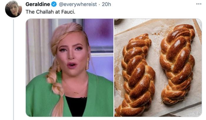 Meghan McCain Hairstyle as Dessert - Challah