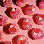 Valentine's Day Donuts - pink lips donuts