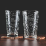 Valentines Day Gifts - Science of Beer pint glasses