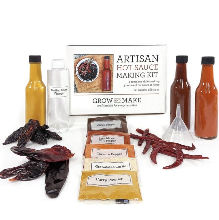 Valentines Day Gifts - artisan DIY hot sauce kit
