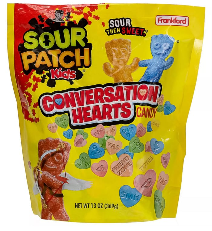 Valentines Day Snacks - sour patch