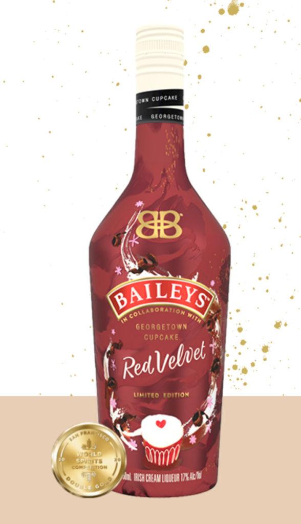 Valentines Day Snacks - Bailey's red velvet liquor
