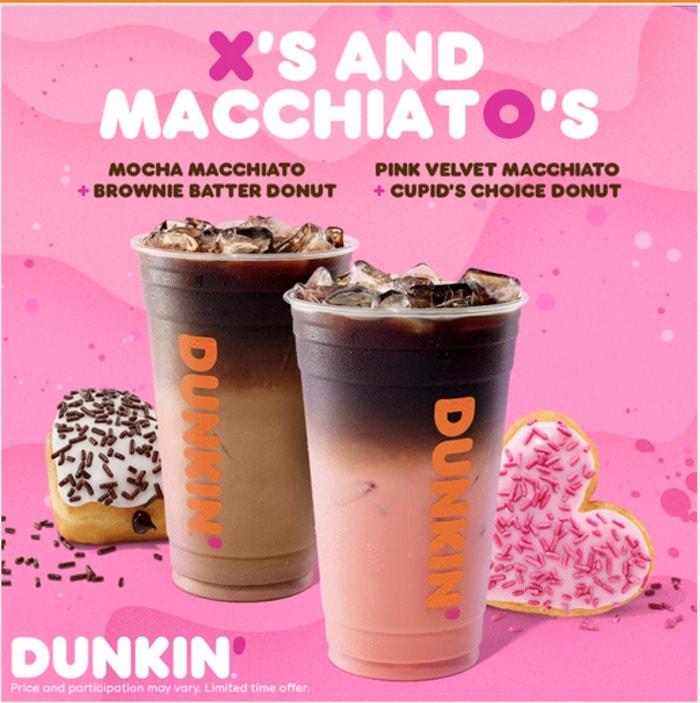 Valentines Day Snacks - dunkin macchiato